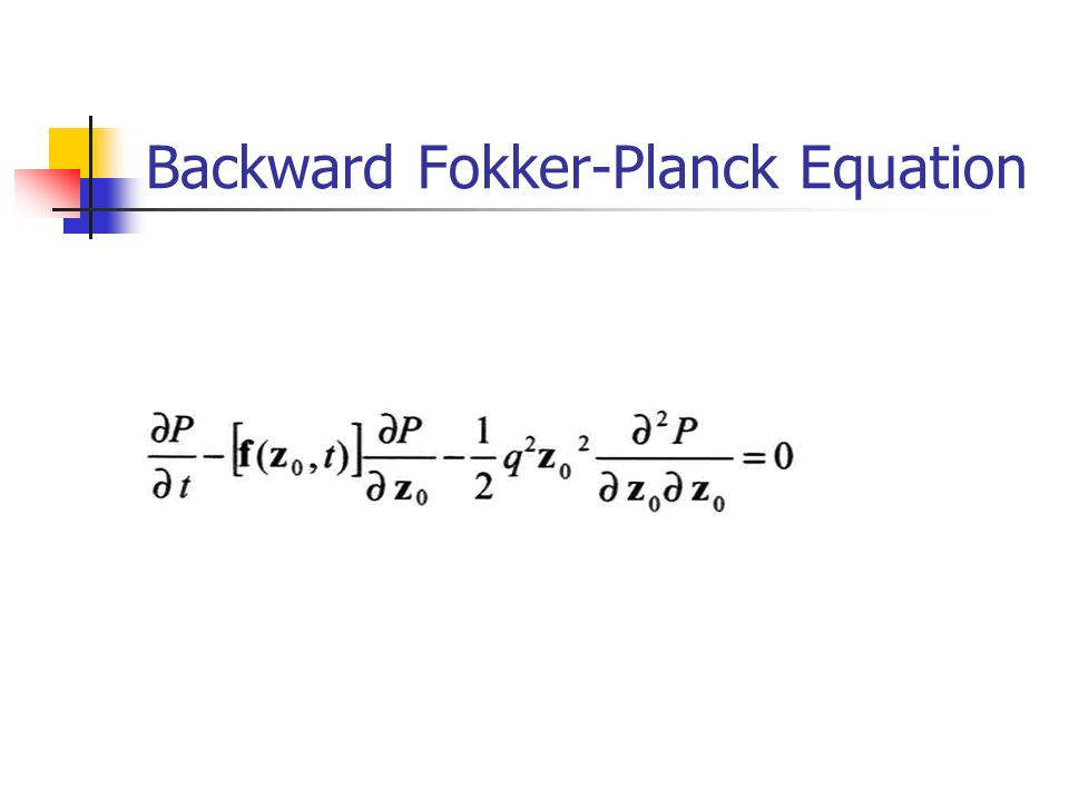 Backward Fokker-Planck Equation