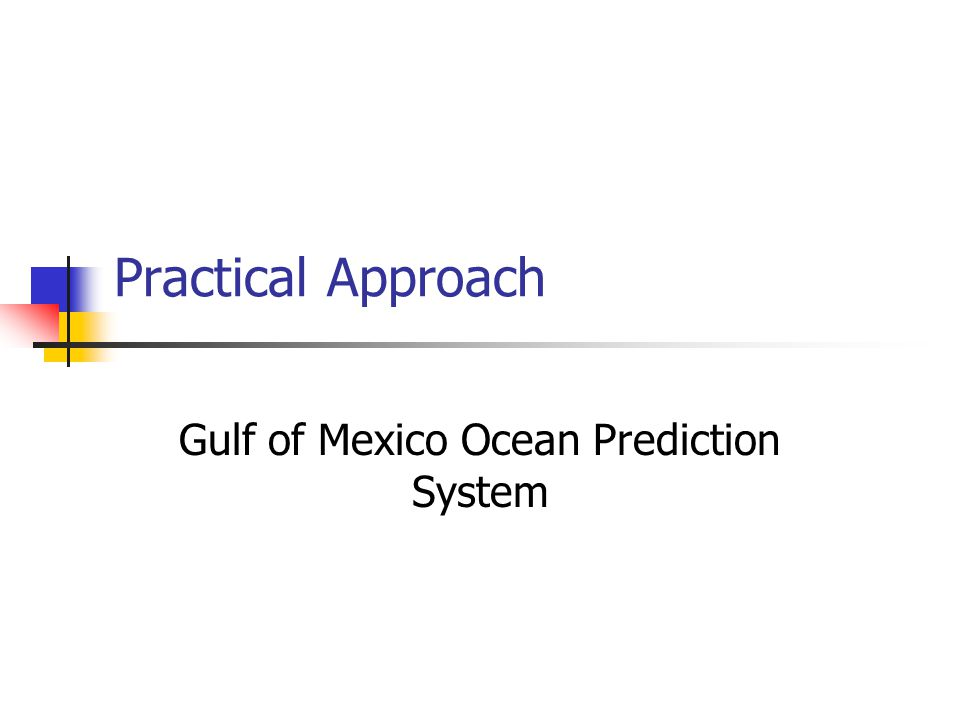 Practical Approach Gulf of Mexico Ocean Prediction System