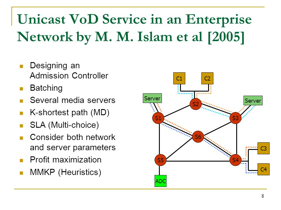 8 Unicast VoD Service in an Enterprise Network by M.