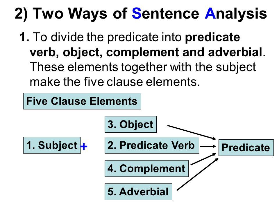 2) Two Ways of Sentence Analysis 1.