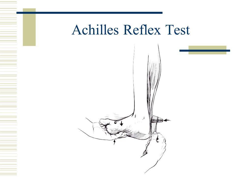 Achilles Reflex Test