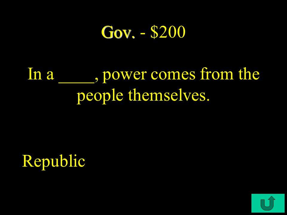 C5-$100 Gov. Gov. - $100 This in 1783 stipulated the British to recognize U.S.