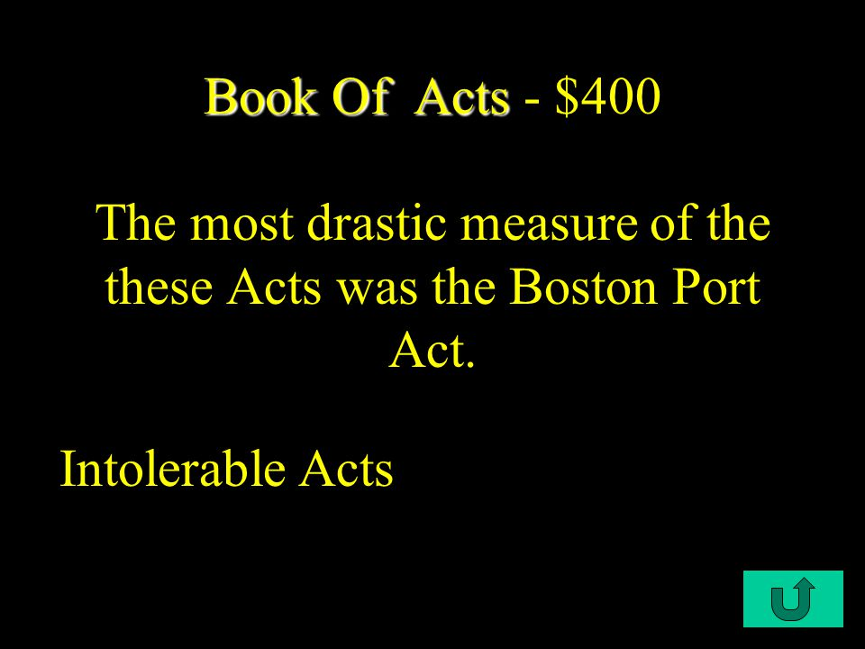 C3-$400 US US - $400 A radical group that favored liberty and was influential in staging the Boston Tea Party Sons of Liberty