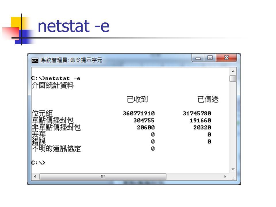 netstat -e