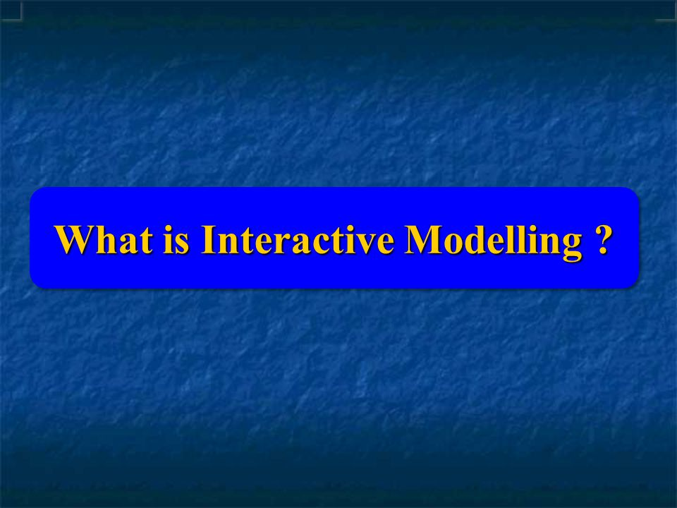 What is Interactive Modelling ?