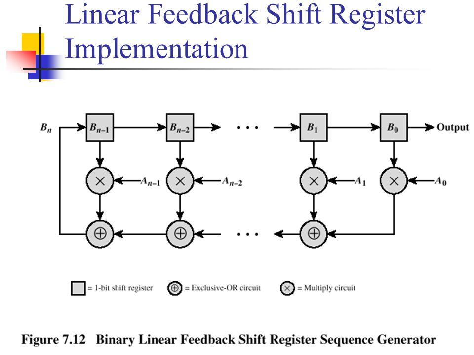 Linear Feedback Shift Register Implementation