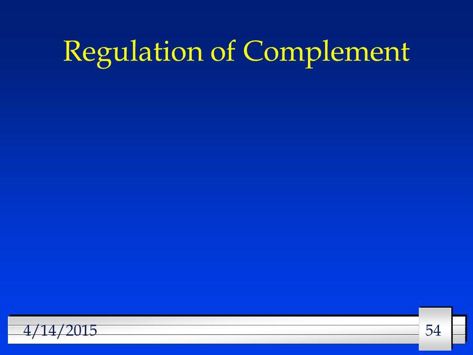 54 4/14/2015 Regulation of Complement