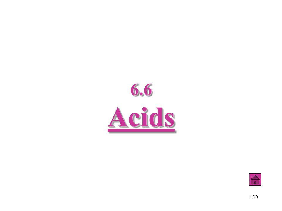 130 6.6 Acids