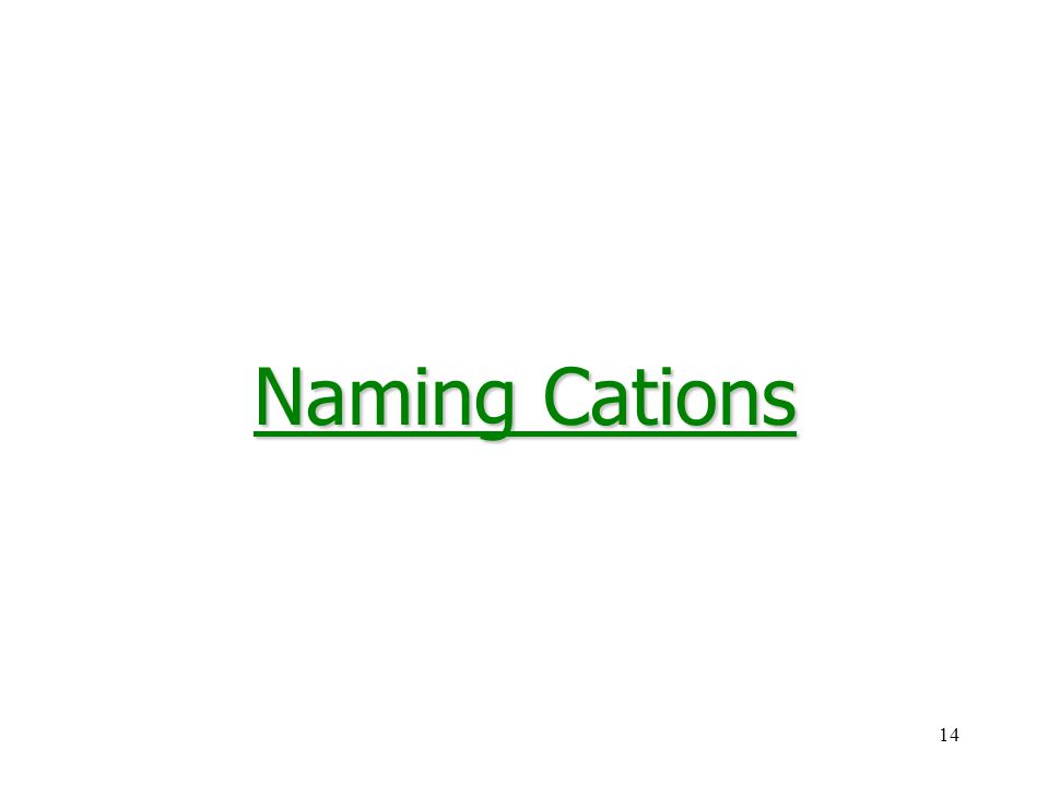 14 Naming Cations