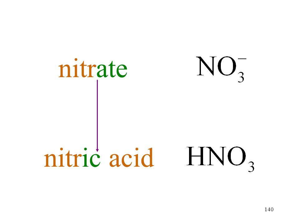 140 nitrate nitric acid