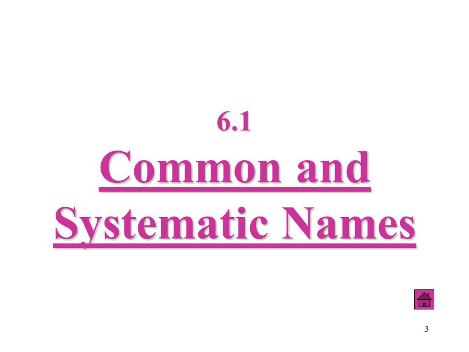 44 The chemical name is composed of the name of the metal followed by the name of the nonmetal which has been modified to an identifying stem plus the suffix –ide.