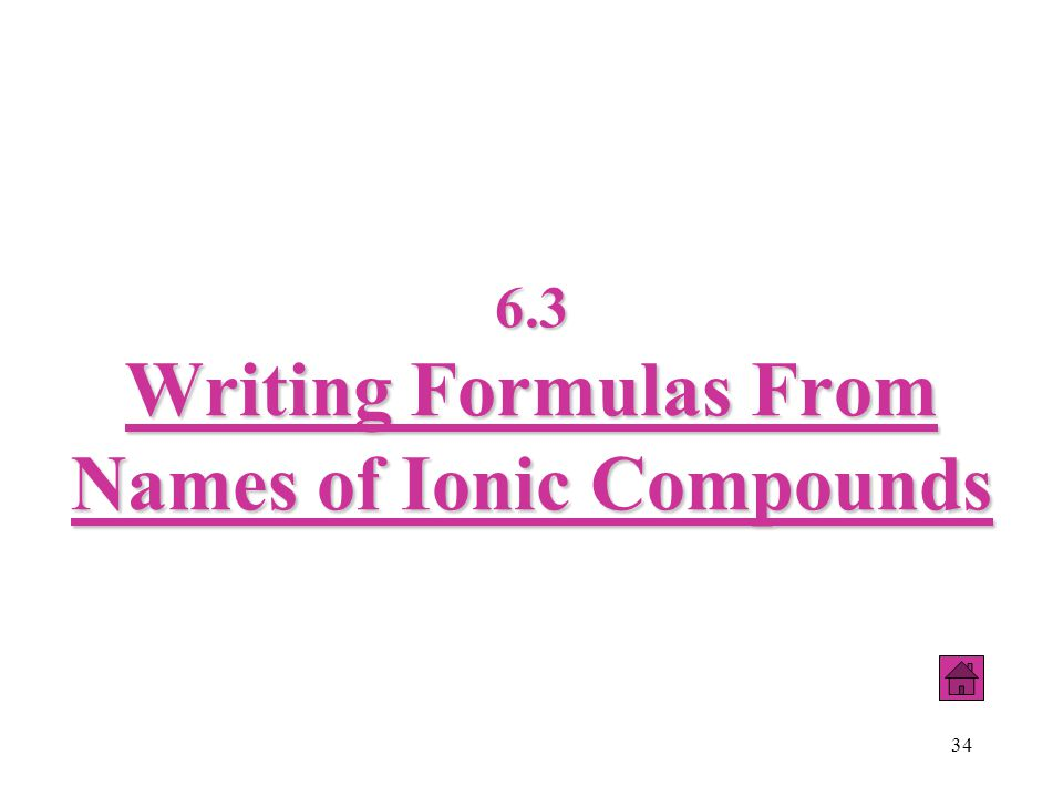 34 6.3 Writing Formulas From Names of Ionic Compounds