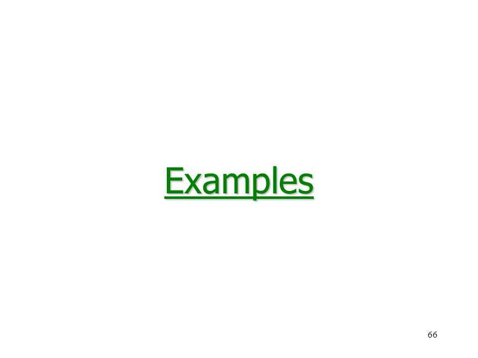 66Examples
