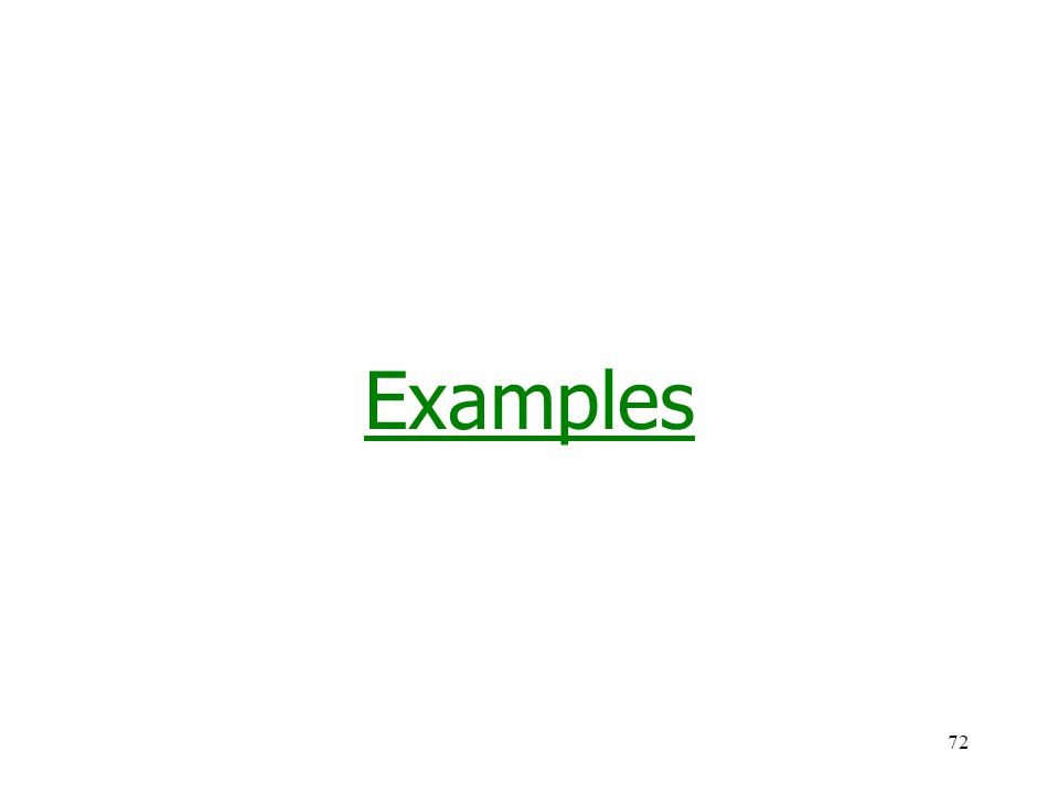 72 Examples