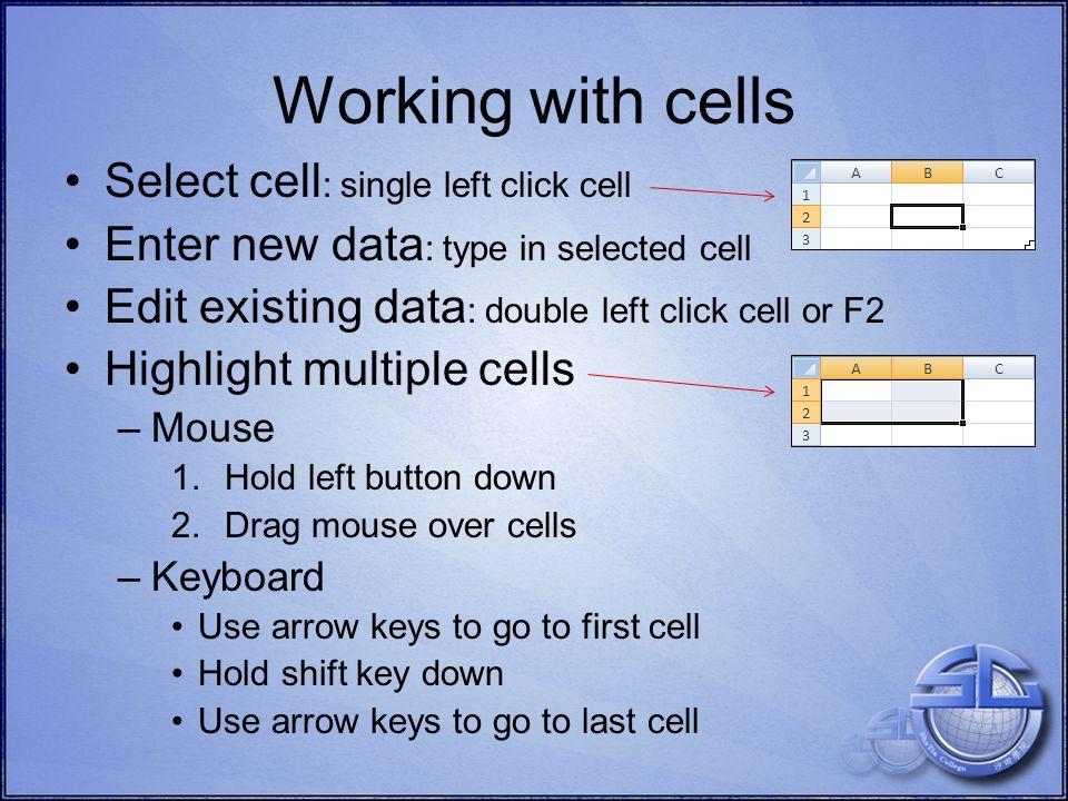 1 l MS Excel 2007 Formatting Cells Cut, copy, paste Font, size Formatting Alignment ColourStyles OpenOffice Calc Cut, copy, paste Font, sizeFormattingAlignmentBordersStyles Google Docs Font, size FormattingAlignment Colour Borders Number formatting Merge cells Number formatting Colours Merge cells Borders Merge cells Cut, copy, paste Number formatting