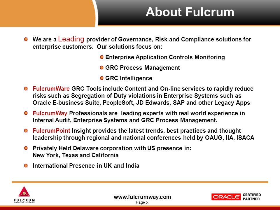 www.fulcrumway.com Page 26 (c) OCEG, 2008 The OCEG Capability Model