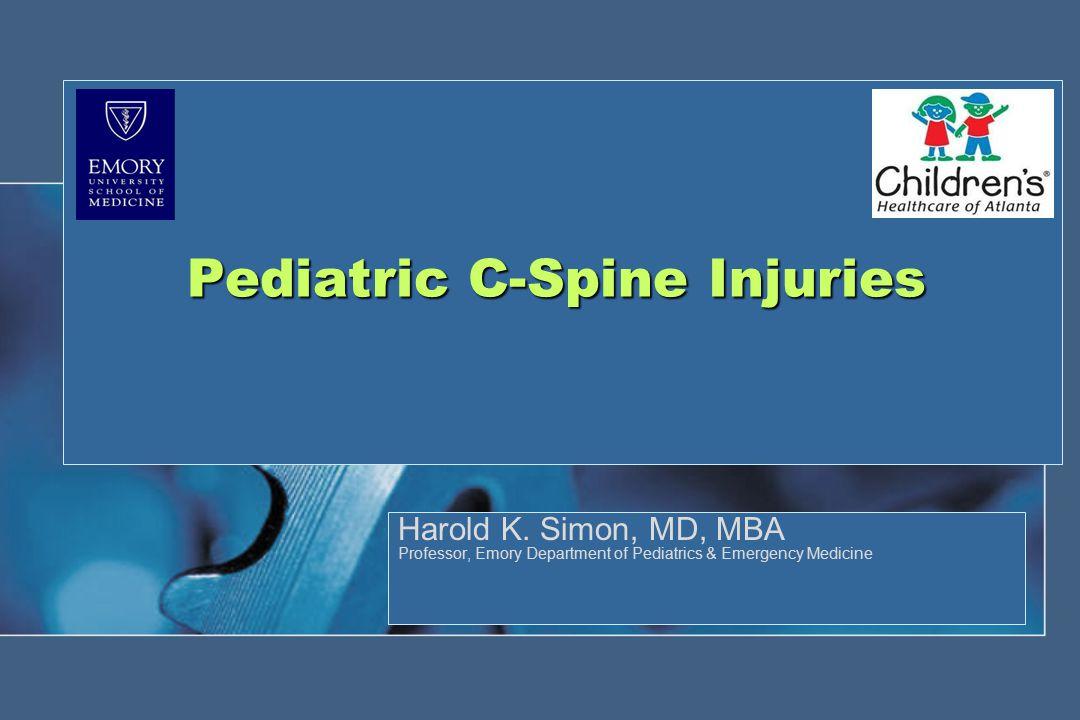 Item of interest Age <18yrsAge ≥18yrs Total # of cases3,06531,004 # with c-spine injury30788 Injury Rate0.98%2.54% Missed injuries 08 (all negative criteria) # of cases with all (-) criteria20%12% NEXUS : Study Results Pediatric versus Adult