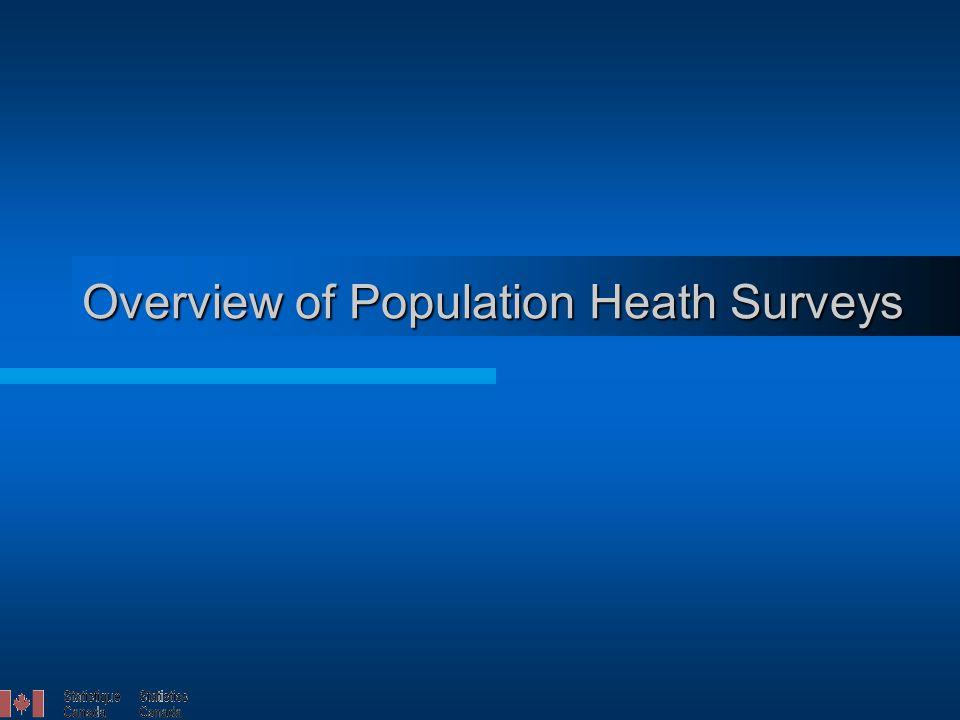 Overview of Population Heath Surveys