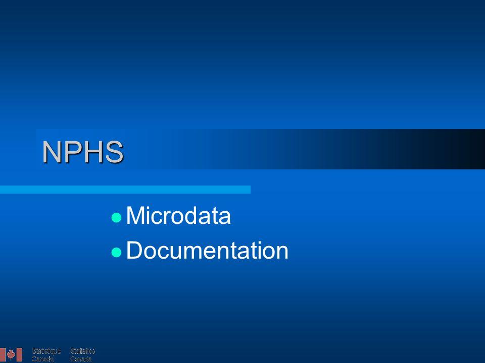 NPHS Microdata Documentation