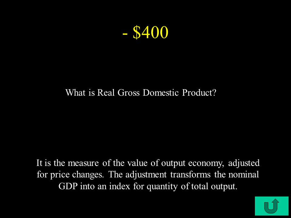 C5-$300 - $300 What is Nominal Gross Domestic Product.