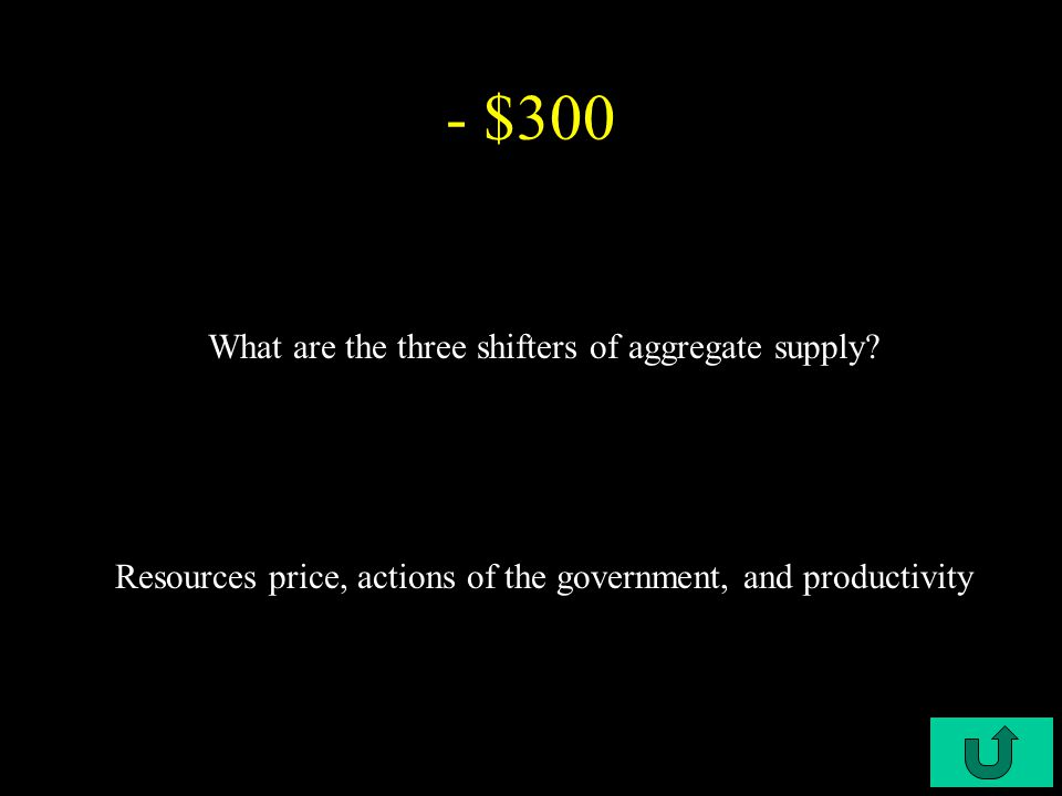 C6-$200 - $200 What is aggregate supply.