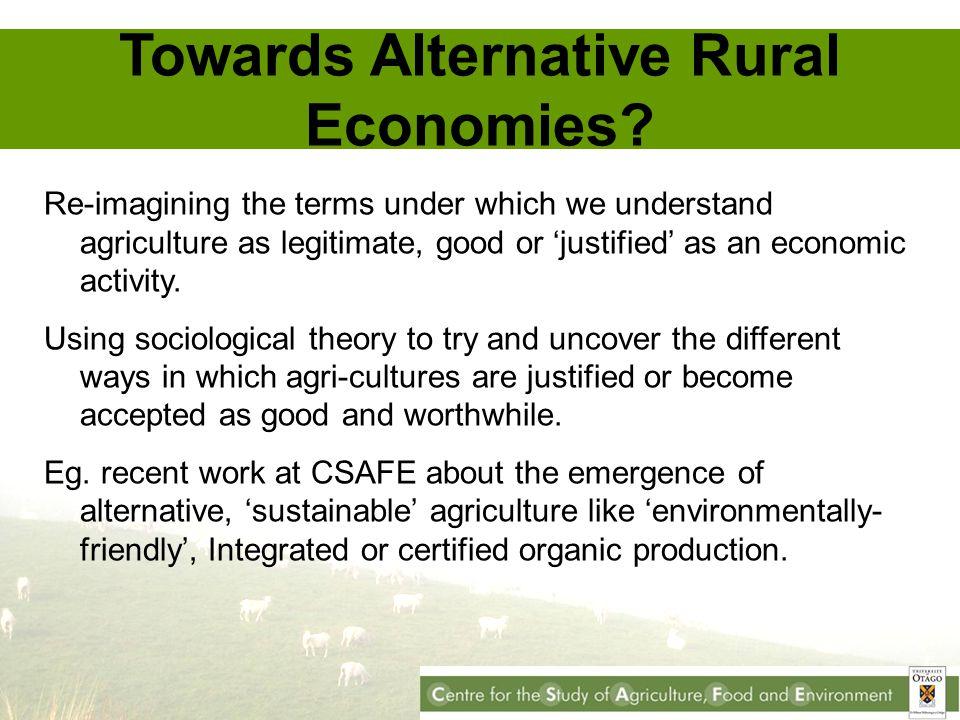 Towards Alternative Rural Economies.