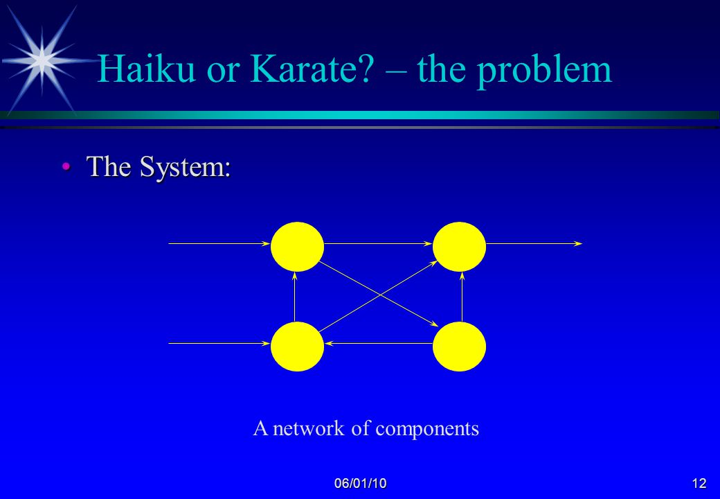 06/01/1011 Haiku or Karate? – the problem Commercial ConstraintsCommercial Constraints The world's largest IT ConsultancyThe world's largest IT Consul