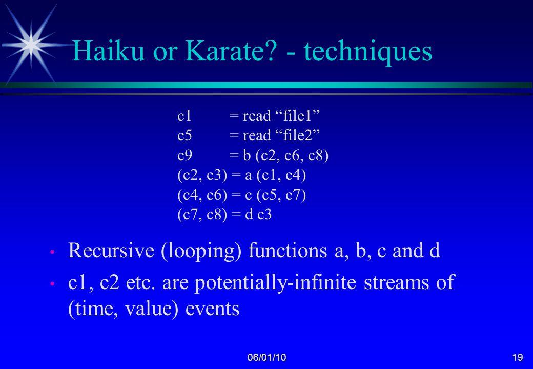 06/01/1018 Haiku or Karate.