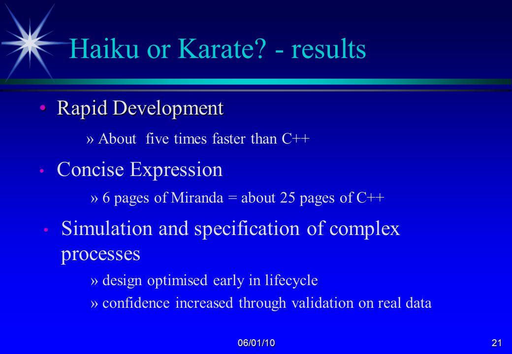 06/01/1020 Haiku or Karate.