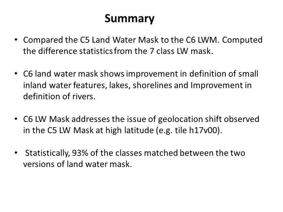 C5 Mask0123567 C6 Mask Shallow OceanLandShoreline Shallow InlandDeep InlandMod.