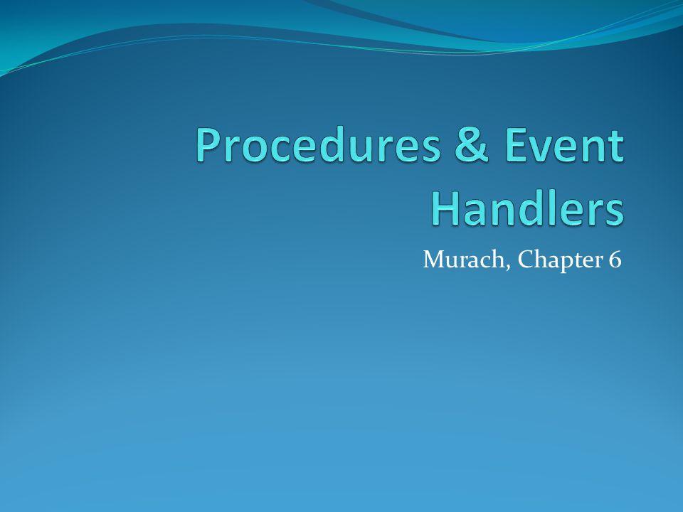 Murach, Chapter 6
