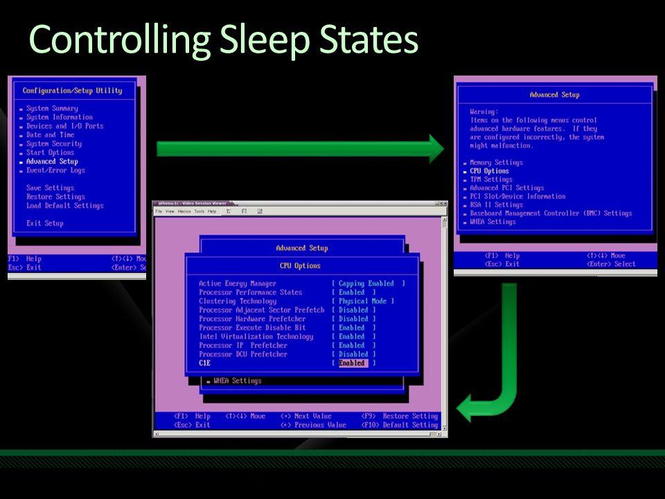 Controlling Sleep States
