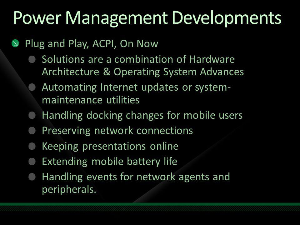 New Windows 7 Power Policies