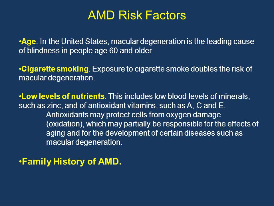 AMD Risk Factors Age.