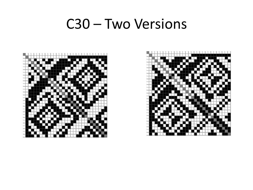 C30 – Two Versions