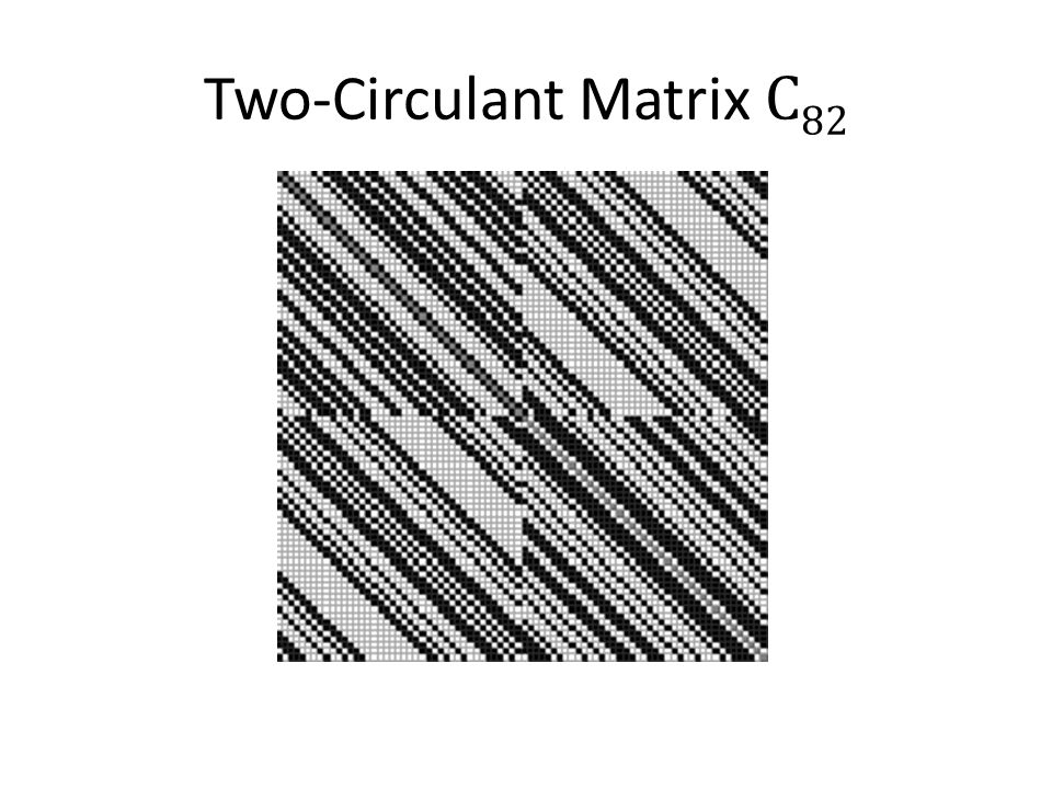 Two-Circulant Matrix C 82