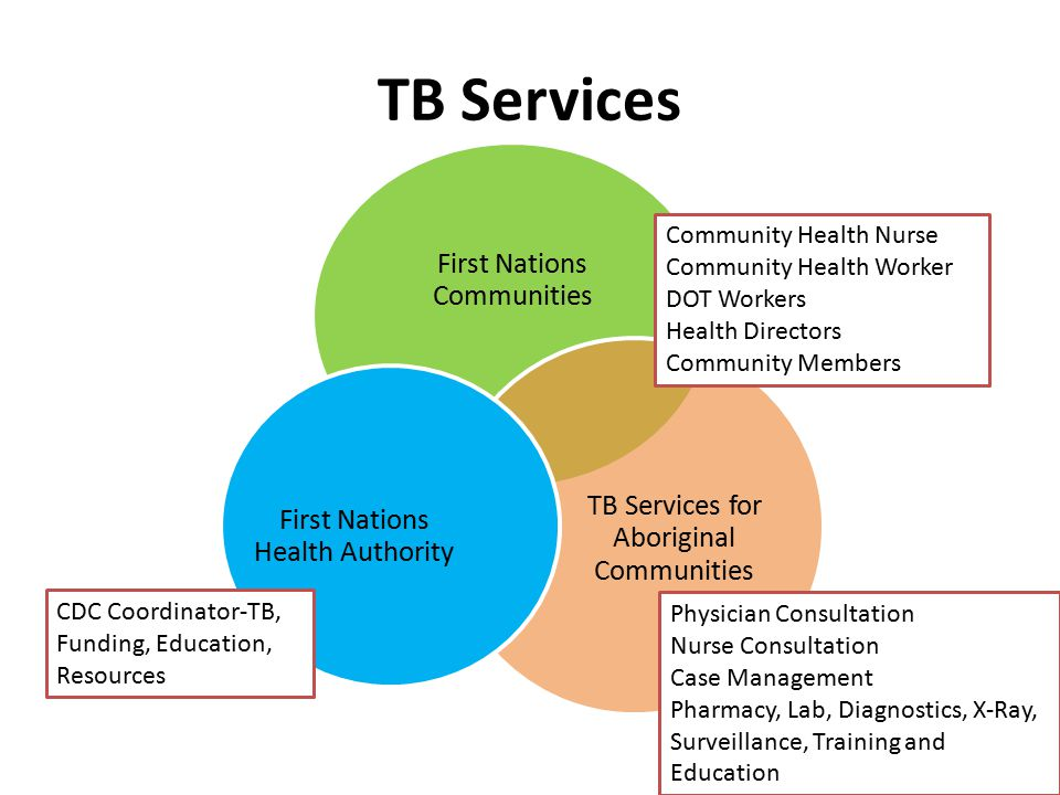 TB Services First Nations Communities TB Services for Aboriginal Communities First Nations Health Authority Community Health Nurse Community Health Wo