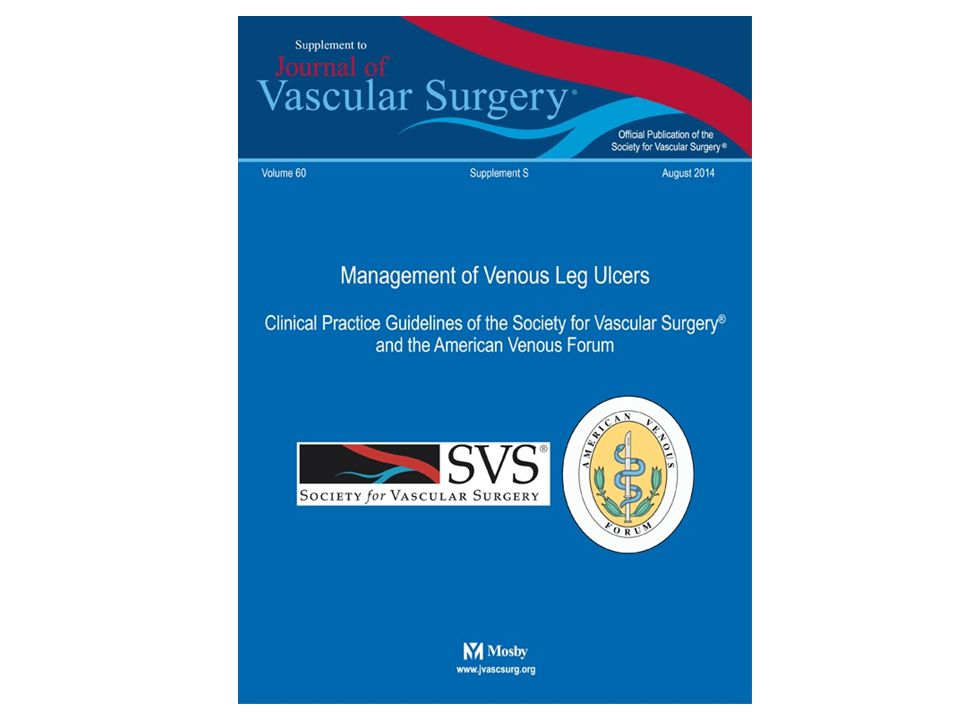 SVS – AVF Clinical Practice Guidelines Operative / Endovascular - Deep Guideline 6.9: Infrainguinal Deep Venous Obstruction and Skin Changes at Risk for Venous Leg Ulcer (C4b), Healed (C5) or Active (C6) Venous Leg Ulcer In a patient with infrainguinal deep venous obstruction and skin changes at risk for venous leg ulcer (C4b), healed venous leg ulcer (C5), or active venous leg ulcer (C6), we suggest autogenous venous bypass or endophlebectomy in addition to standard compression therapy to aid in venous ulcer healing and to prevent recurrence.