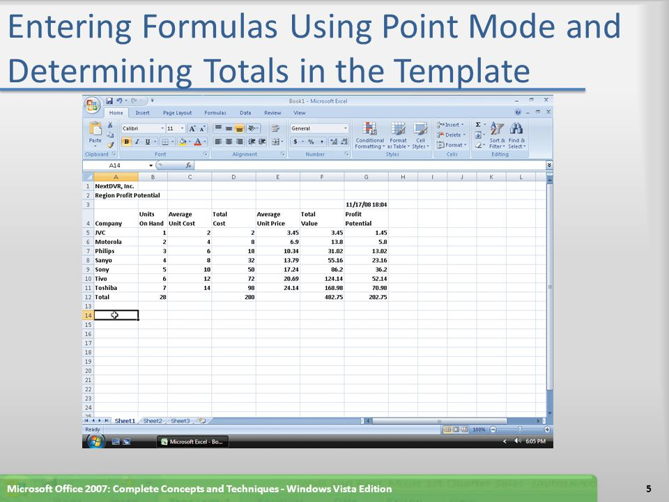 Finding a String Click the Home tab on the Ribbon With the Company sheet active, click the Find & Select button on the Ribbon Click Find When Excel displays the Find and Replace dialog box, click the Options button so that it appears as shown in Figure 6–78 on page EX 482 Microsoft Office 2007: Complete Concepts and Techniques - Windows Vista Edition46