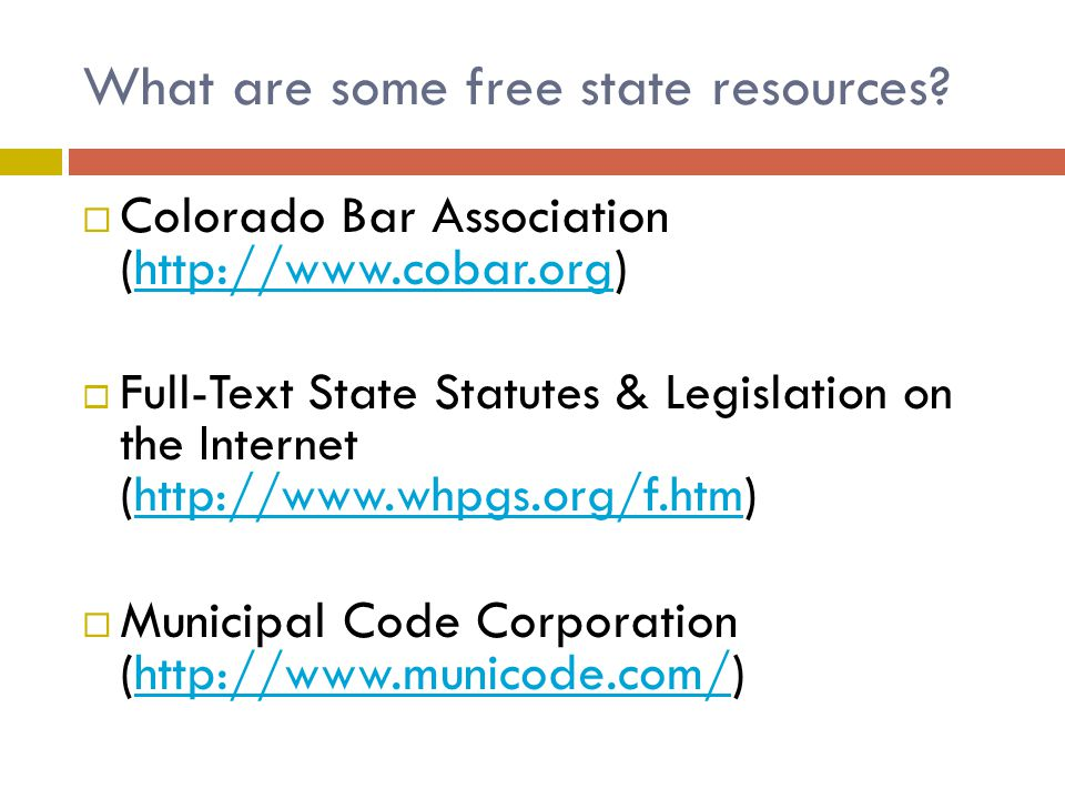 What are some free state resources.