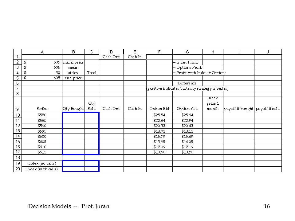 Decision Models -- Prof. Juran16