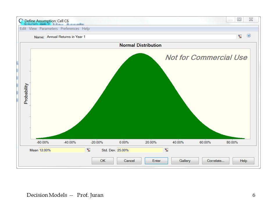 Decision Models -- Prof. Juran6