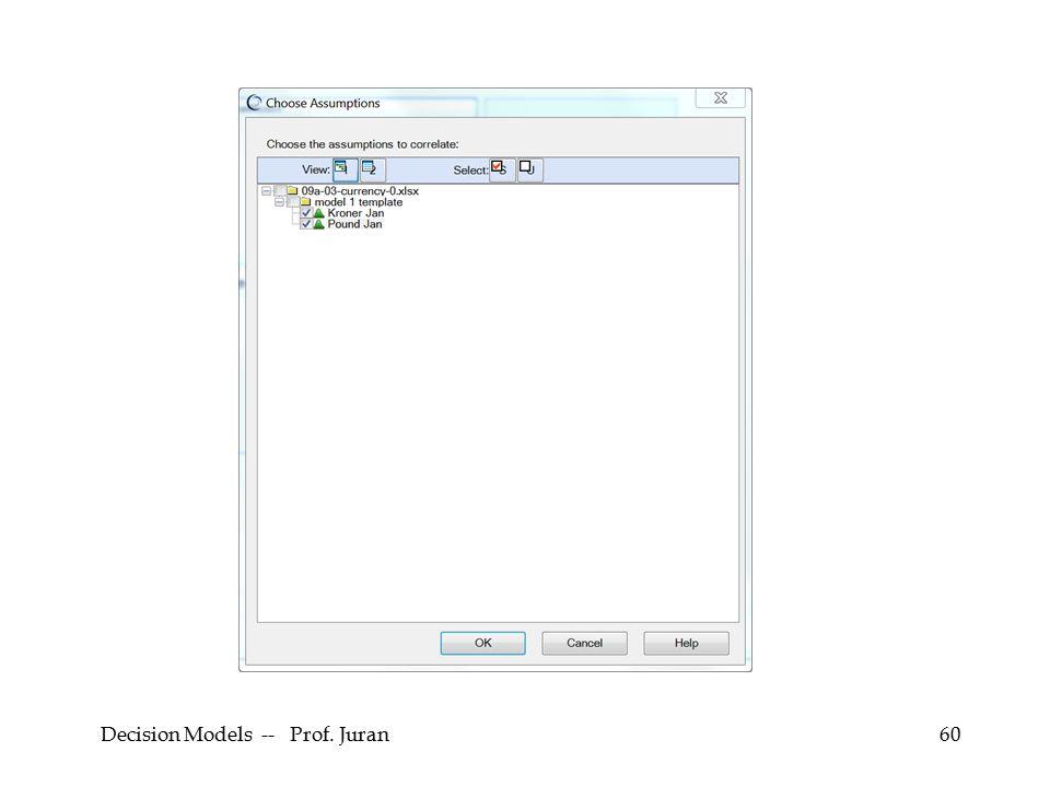Decision Models -- Prof. Juran60