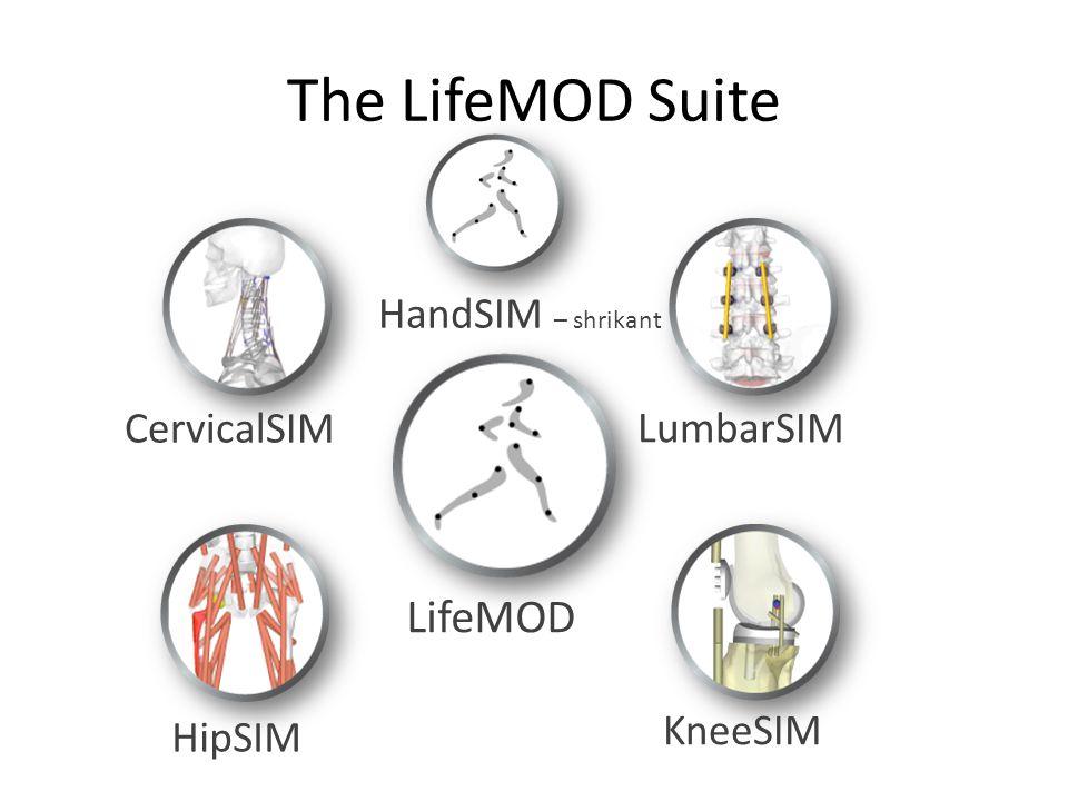 The LifeMOD Suite CervicalSIM KneeSIM LifeMOD LumbarSIM HipSIM HandSIM – shrikant