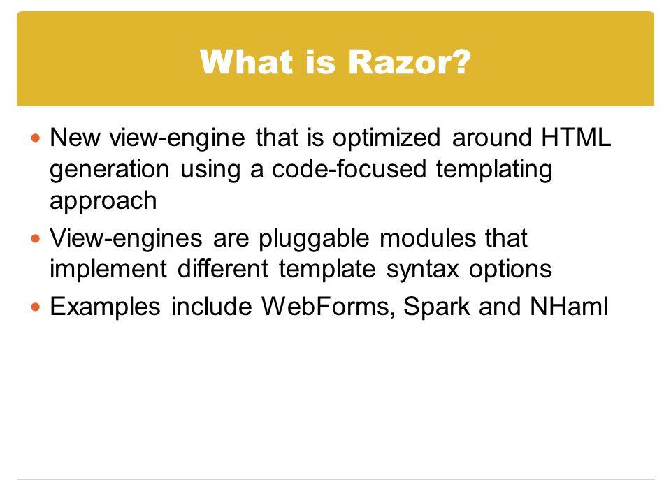 What is Razor.