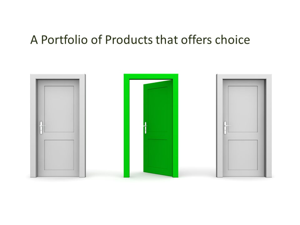A Portfolio of Products that offers choice
