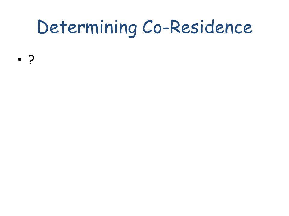 Determining Co-Residence ?