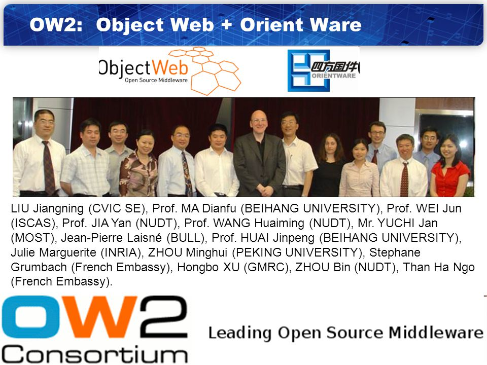12 OW2: Object Web + Orient Ware
