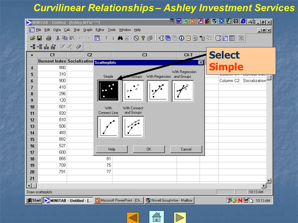 Select Simple Curvilinear Relationships – Ashley Investment Services