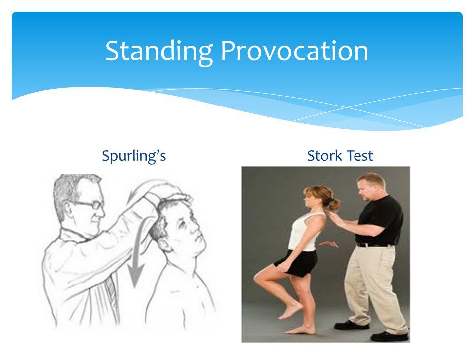 Standing Provocation Spurling'sStork Test